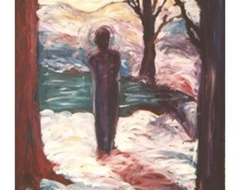 One In Winter - JENDRIA Original Oil Painting Art