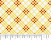 Hoo's in the Forest Fabric by Doohickey Designs for Riley Blake, Hoo's Plaid in Yellow-Fat Quarter