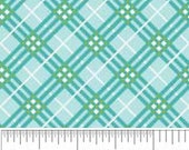 Hoo's in the Forest Fabric by Doohickey Designs for Riley Blake, Hoo's Plaid in Blue-Fat Quarter