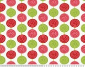 SALE  Alphabet Soup Fabric by Zoe Pearn for Riley Blake, Beads in Red-1 Yard