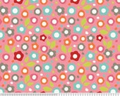 SALE  Alphabet Soup Fabric by Zoe Pearn for Riley Blake, Floral in Pink-1 Yard