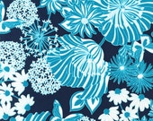 Just Dandy Fabric by Josephine Kimbering for Robert Kaufman, Main Floral in Blue Jay-Fat Quarter