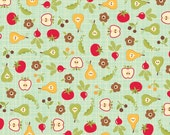 LAST ONE SALE Farm Fresh Fabric by Riley Blake Designs, Root Cellar in Teal-1/2 Yard