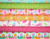 Dessert Party fabric by Ann Kelle for Robert Kaufman -Sorbet Fat Quarter Bundle- 8 total
