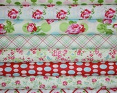 Sugar Hill Fabric by Tanya Whelan for Free Spirit- Pink Fat Quarter Bundle, 8 total