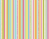 Sunny Happy Skies Fabric by Bella Blvd for Riley Blake, Stripe in Yellow-Fat Quarter