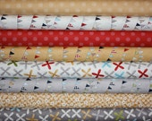 Yellow and Gray Reunion fabric bundle by Sweetwater for Moda - Yard Bundle- 8 total