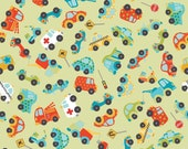 Peak Hour Fabric by Kelly Wulfsohn for Riley Blake, Peak Hour Main in Green-Fat Quarter