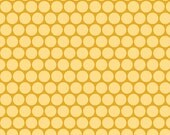 Peak Hour Fabric by Kelly Wulfsohn for Riley Blake, Peak Hour Circles in Yellow-Fat Quarter