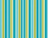 Peak Hour Fabric by Kelly Wulfsohn for Riley Blake, Peak Hour Stripe in Blue-1 Yard