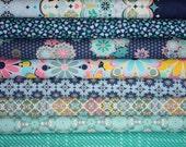 Grand Hotel Fabric by Jenean Morrison for Free Spirit- Fat Quarter Bundle- 8 total