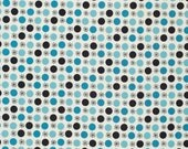 Flea Market Fancy Legacy Collection by Denyse Schmidt for Free Spirit, Flower and Dot in Turquoise-Fat Quarter