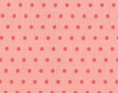 Vintage Modern by Bonnie and Camille fabric for Moda, Dots in Melon Pink-1 Yard