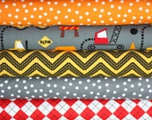 Cone Zone Fabric by Caleb Gray for Robert Kaufman- Fat Quarter Bundle- 5 total