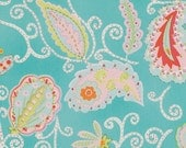 Pretty LIttle Things Fabric by Dena Designs for Free Spirit, Madeleine in Teal-1 Yard