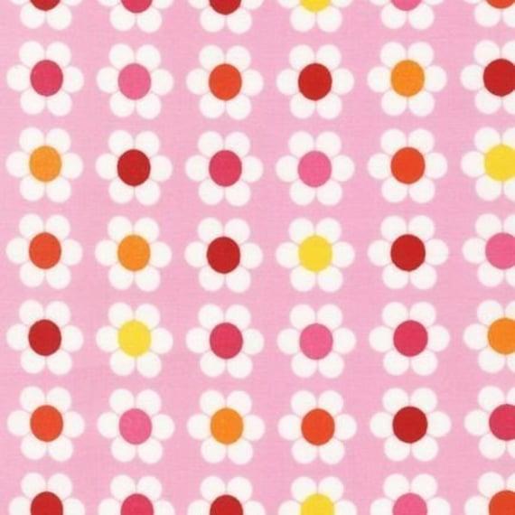 Remix Fabric by Ann Kelle for Robert Kaufman-Dasies in Garden-Fat Quarter