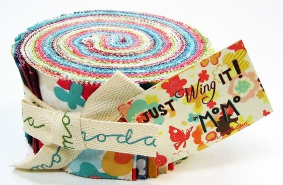LAST ONE Just Wing It Precut Fabric by Momo for Moda Fabrics- Jelly Roll