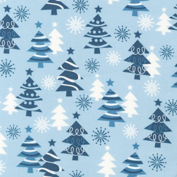 LAST ONE SALE O' Tinsel Tree Fabric by Robert Kaufman, Tinsel Trees in Frost-1 Yard or by the yard