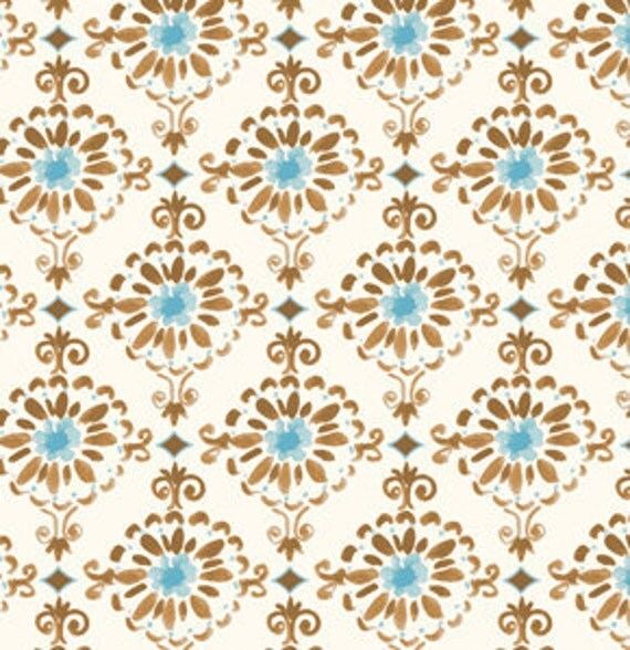 London Fabric by Dena Designs for Free Spirit, Cotswold in Blue-1 Yard