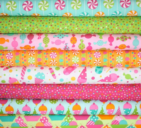Dessert Party fabric by Ann Kelle for Robert Kaufman -Sorbet Yard Bundle- 8 total