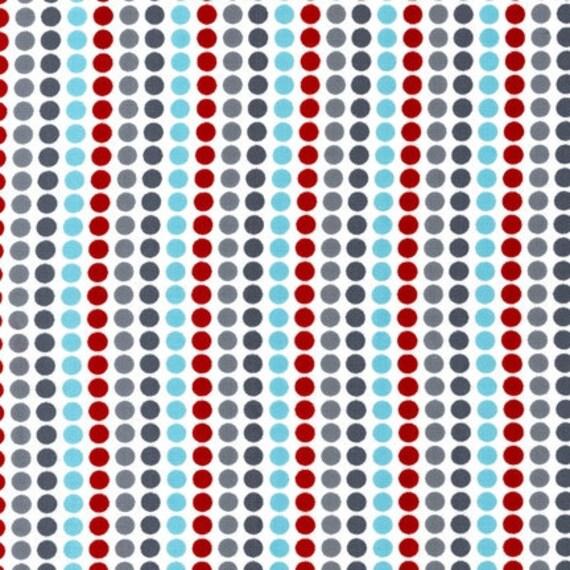 Remix fabric  by Ann Kelle for Robert Kaufman, Remix Candy Stripe Dots in Celebration-Fat Quarter