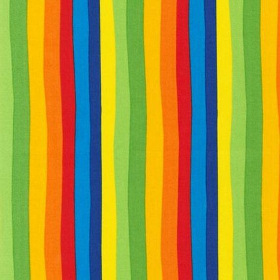 Dr Seuss Fabric by Robert Kaufman, Dr Seuss Stripe in Celebration-1 Yard
