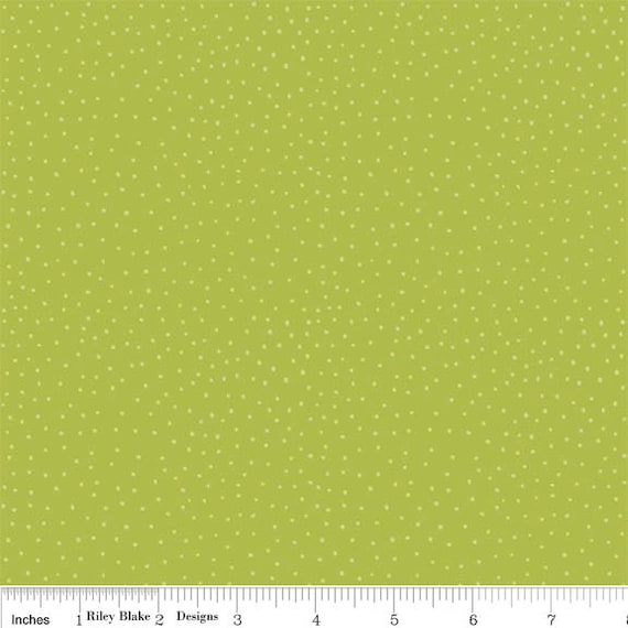 Peak Hour Fabric by Kelly Wulfsohn for Riley Blake, Peak Hour Dots in Green-1 Yard