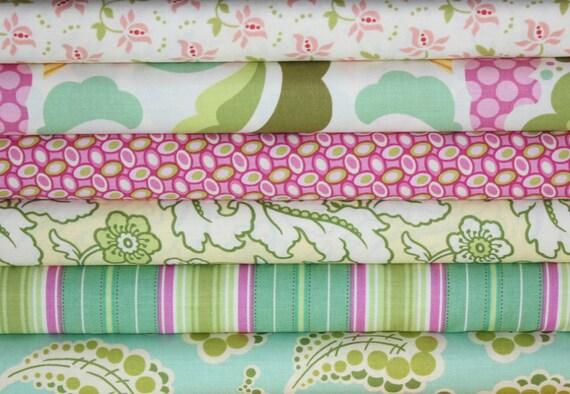 NEW Freshcut 2011 fabric bundle by Heather Bailey, 1/2 Yard Bundle- 6 total