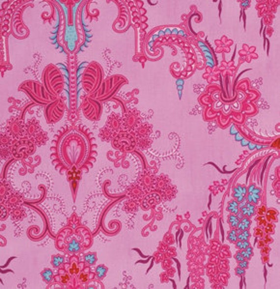 Crazy Love quilt or craft Fabric by Jennifer Paganelli for Free Spirit, Jo Ann in Pink-1 Yard or by the yard