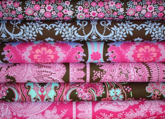 Crazy Love Fabric by Jennifer Paganelli for Free Spirit- 1/2 Yard Bundle- 6 total