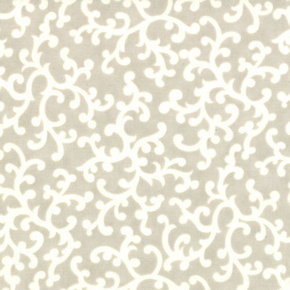 SALE LAST ONE Vintage Modern by Bonnie and Camille fabric for Moda, Floral Swirl in Pebble Grey-1 Yard or by the yard