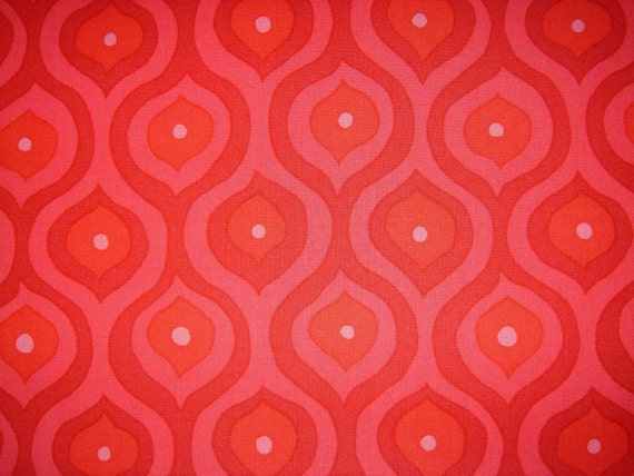 New from Valori Wells- Curves in Red Fabric- 1\/2 yard