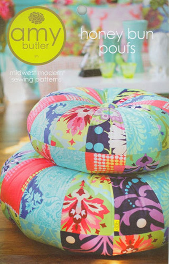 Amy Butler Sewing Pattern- Honey Bun Poufs.