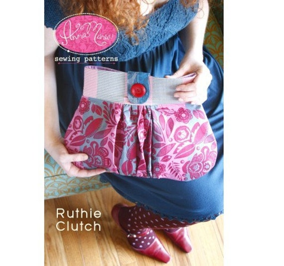 SALE NEW Anna Maria Ruthie Clutch Sewing Pattern- Free shipping with fabric order