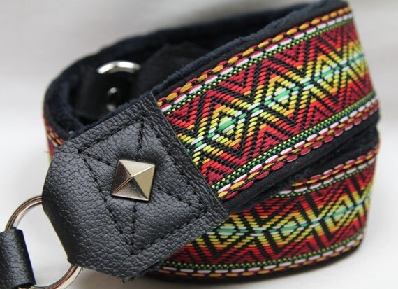 DSLR Padded Camera Strap - Premier Edition Rasta Strap - Handmade in the USA