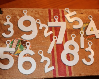 Group of Plastic Numbers with Hangers