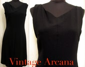 Vintage 1960's Perfectly Chic Little Black Dress by Anne Fogarty SZ 8