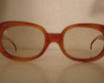 Vintage 1970s Chic Butterscotch Italian Eyeglass Frames