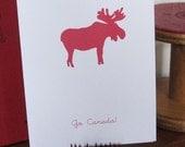 Oh Canada Moose Card