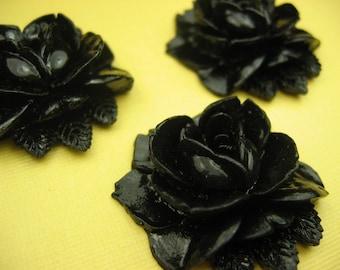 Large Vintage Black Roses (2)