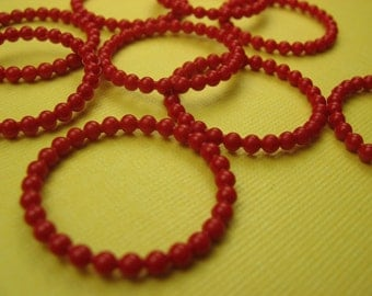 Vintage Lucite Red Beads (8)
