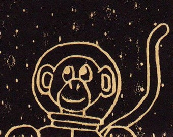 Monkey in Space Print - Editioned 4/12