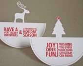 Christmas Cards - Rocking Around the Christmas Tree - 2 pack