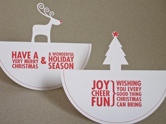 Christmas Cards - Rocking Around the Christmas Tree - 2 pack