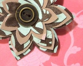 Reproduction Vintage Fabric Flower Brooch