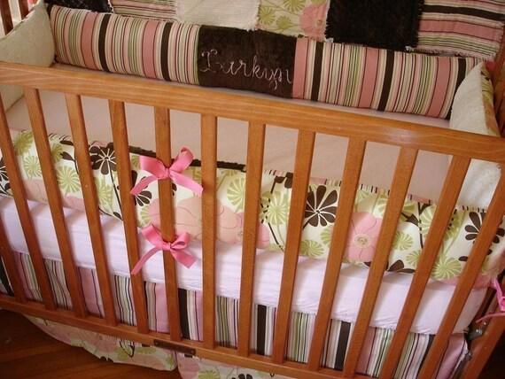 ... for dawnelizabeth22 Pink Brown Green City Girl Baby Crib Bedding Set