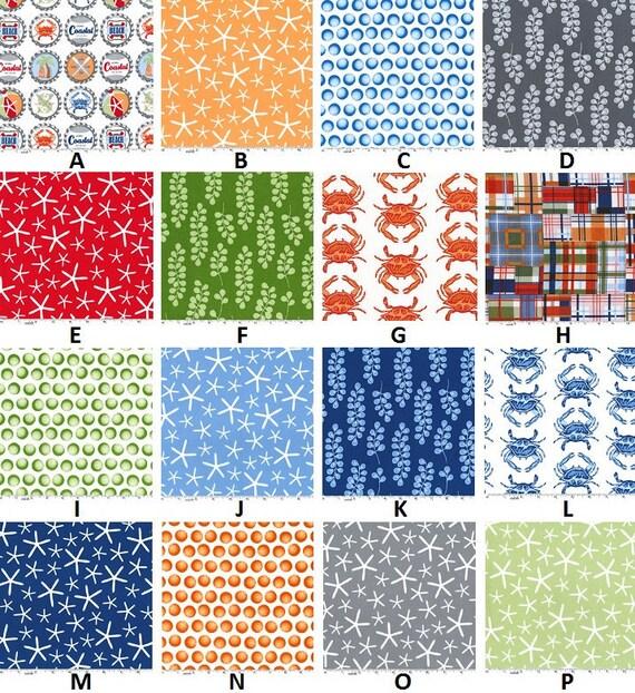 Custom Going Coastal Palette Baby Nursery Complete 4-Piece Crib Bedding Set made with Designer fabric