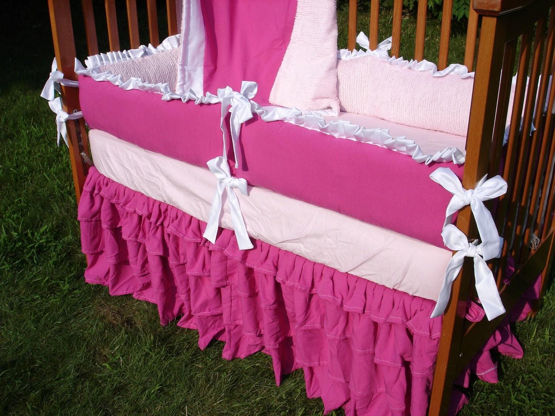 Custom Bright Rasberry Pink Linen/Chenille By