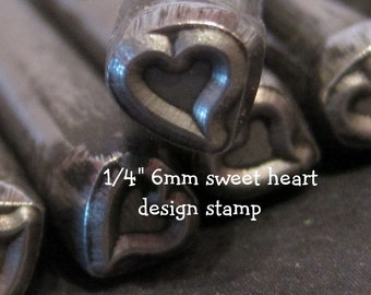 Design Stamp - SWEET HEART - includes How to Stamp Metal tutorial