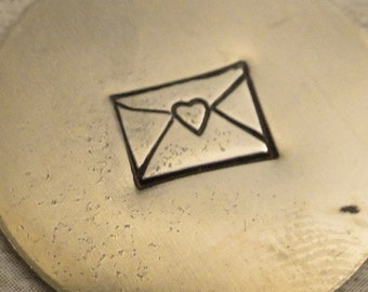 tiny Design Stamp - NEW Size - LOVE NOTE by WonderStruck Studios - 3/16 inch (4.75mm)